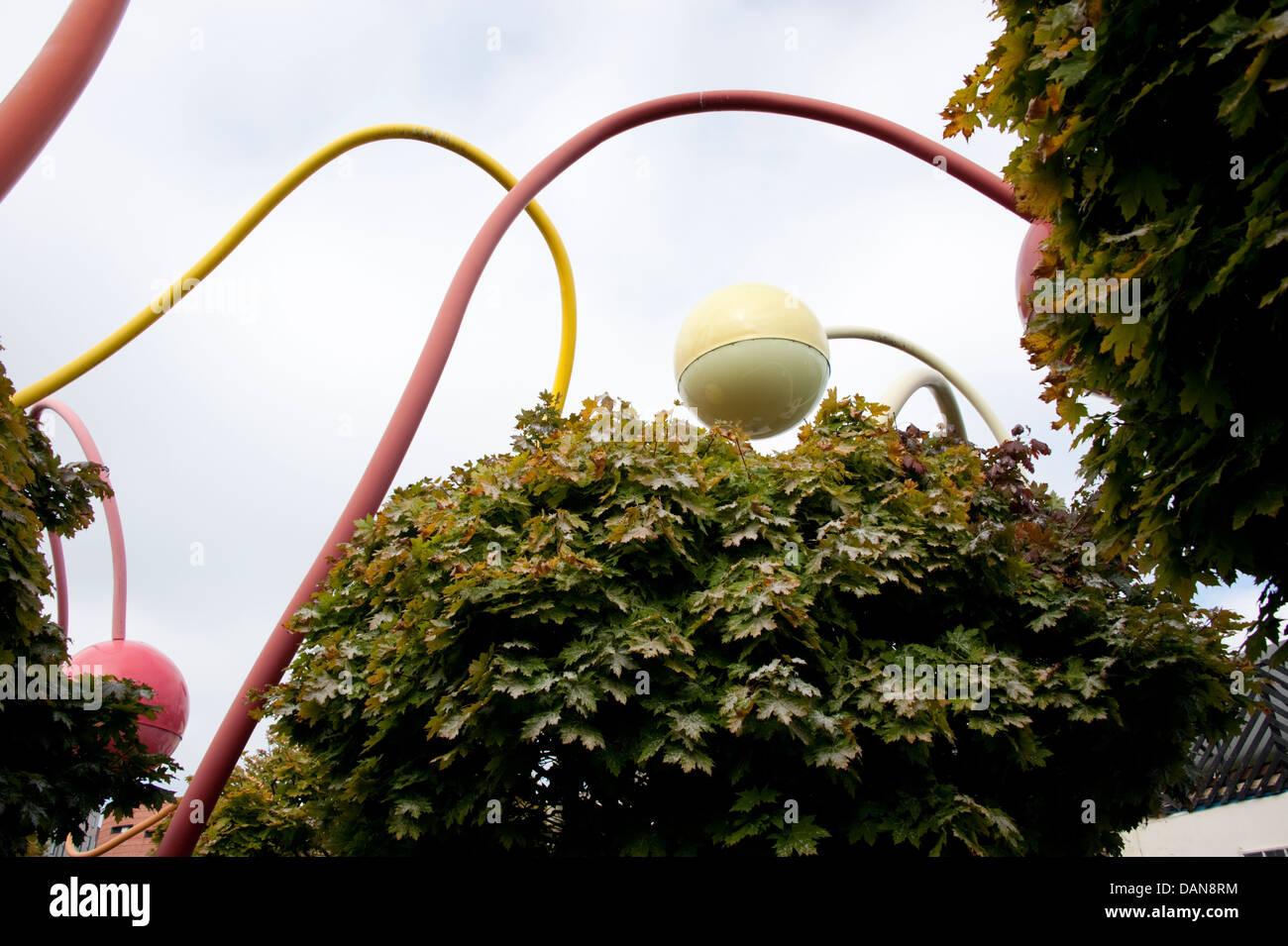Modern Art Sculpture SciFi Liverpool UK - Stock Image