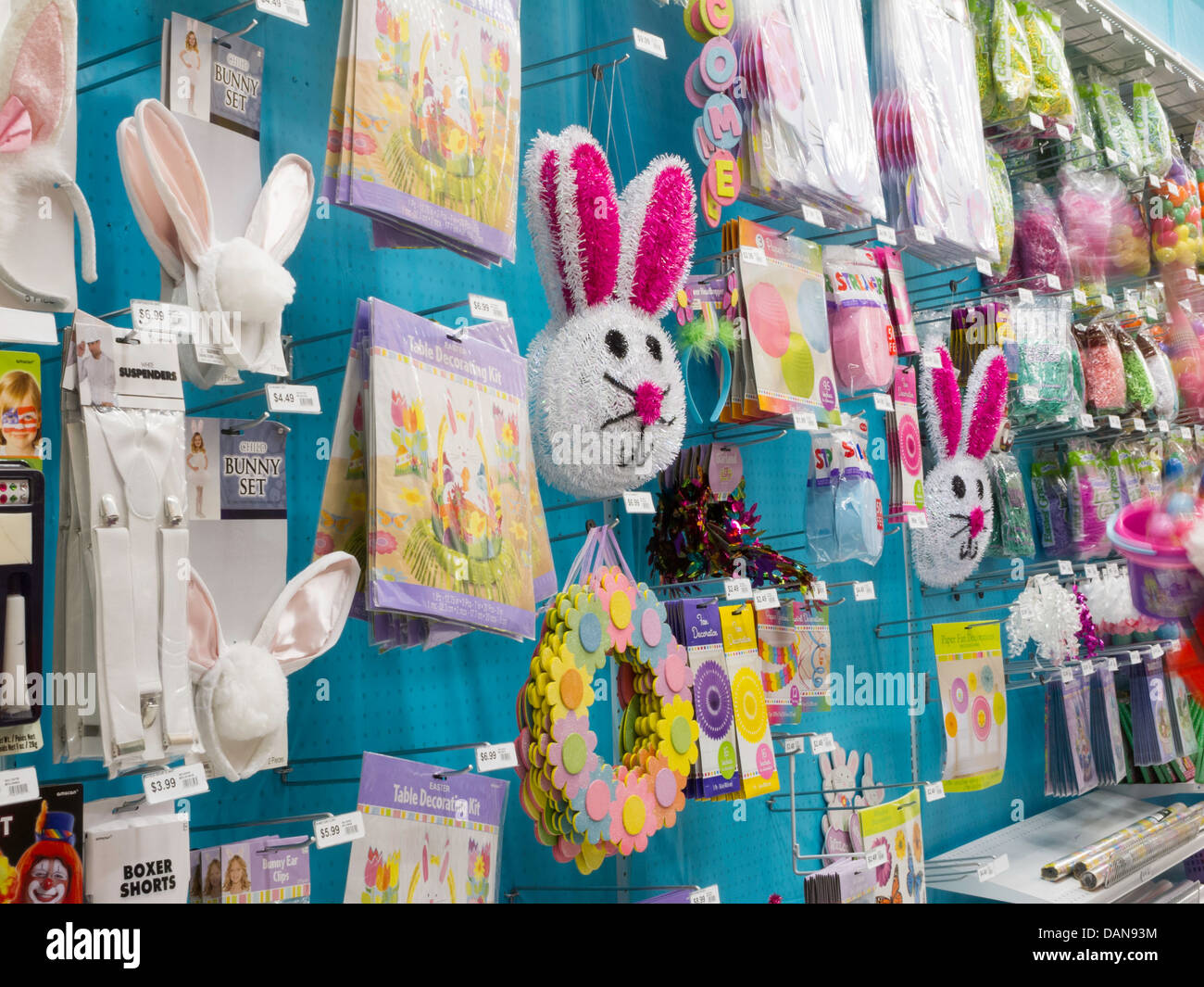 Traditional Easter Decorations Display, Party City, NYC
