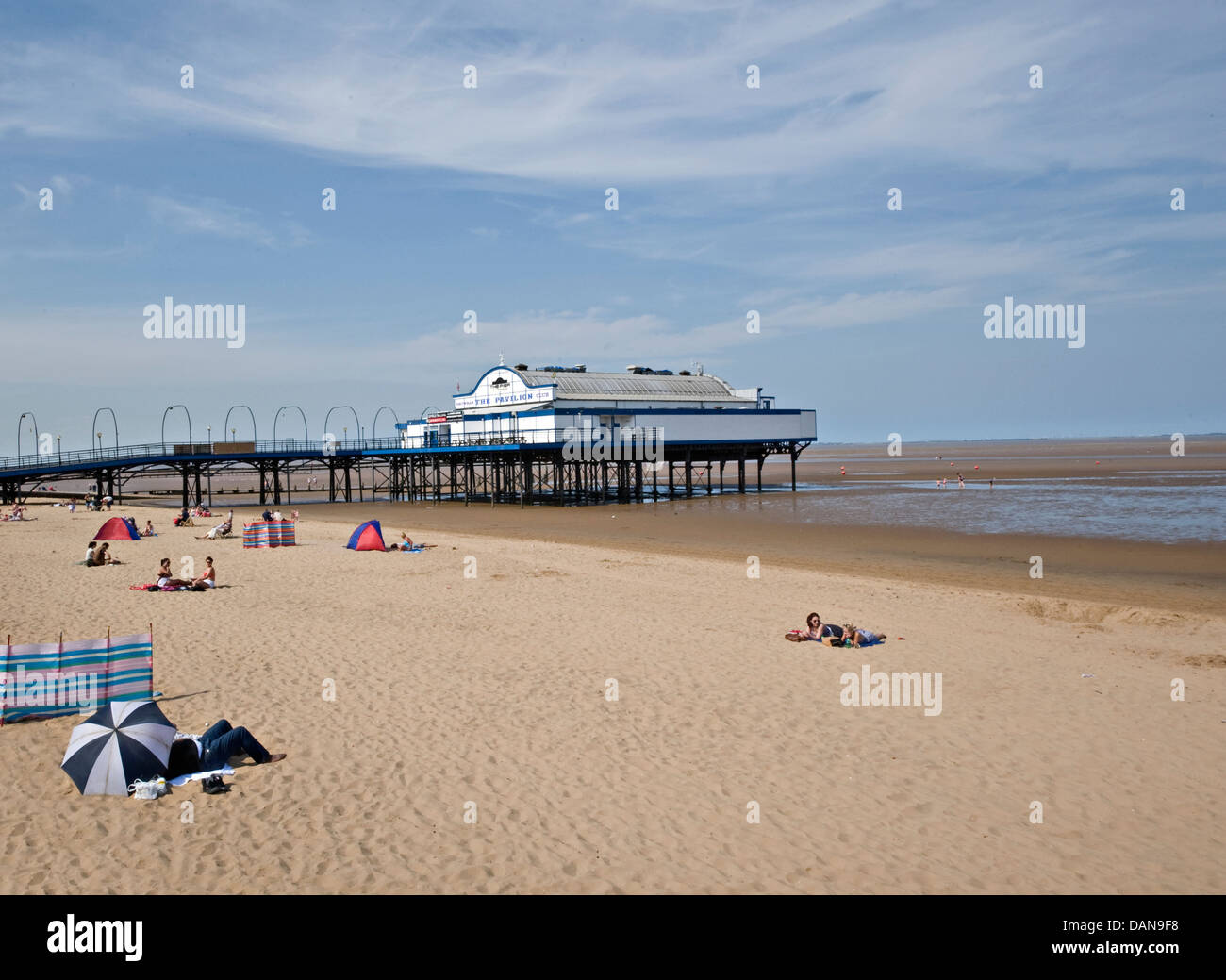 Cleethorpes Pier in the summer - Stock Image