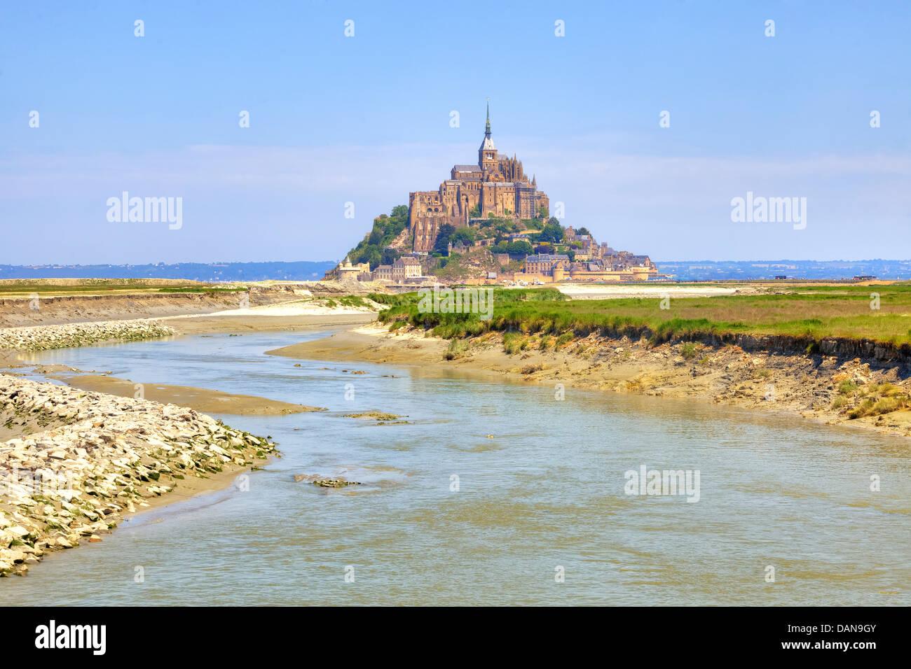 Le Mont-Saint-Michel, Avrachnes, Normandy, France - Stock Image