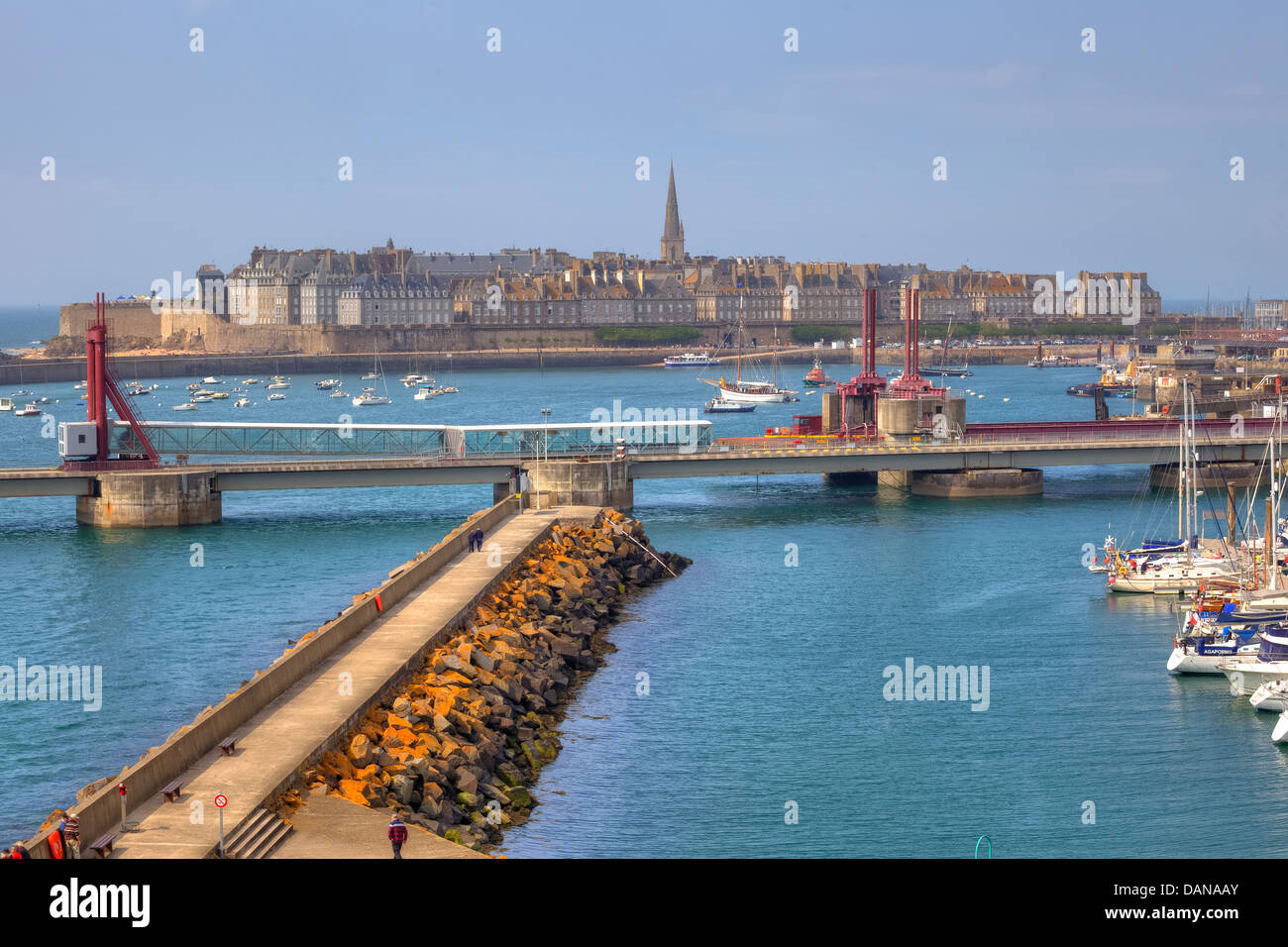 ferry terminal in Saint-Malo, Brittany, France - Stock Image
