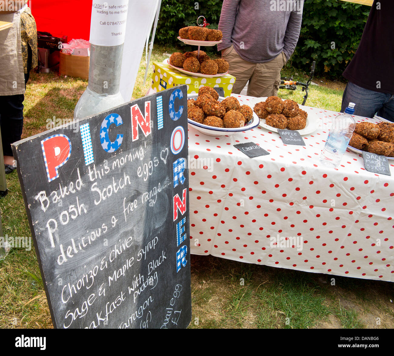 Picnic Diner, selling 'posh scotch eggs' in Brighton street food market - Stock Image