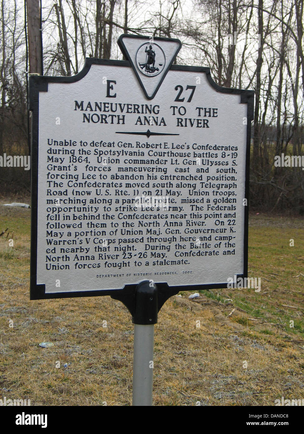 MANEUVERING TO THE NORTH ANNA RIVER  Unable to defeat Gen. Robert E. Lee's Confederates during the Spotsylvania - Stock Image