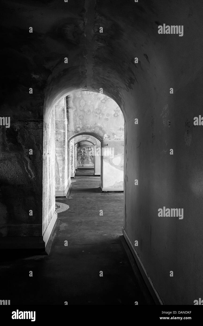 Fortifications Old Portsmouth - Monochrome Creative - Stock Image