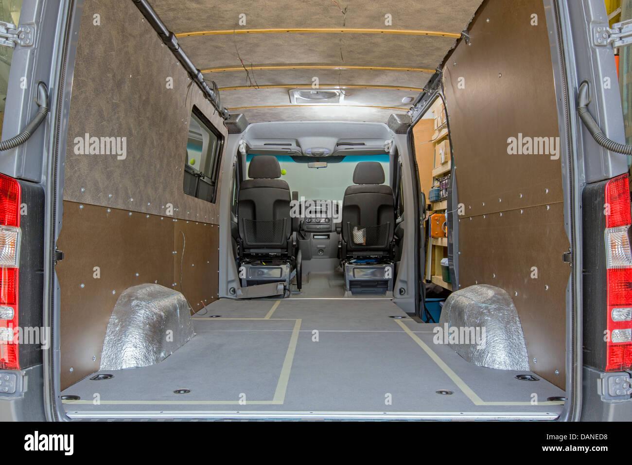 Custom camper Mercedes-Benz Sprinter Cargo Van 2500 - Stock Image