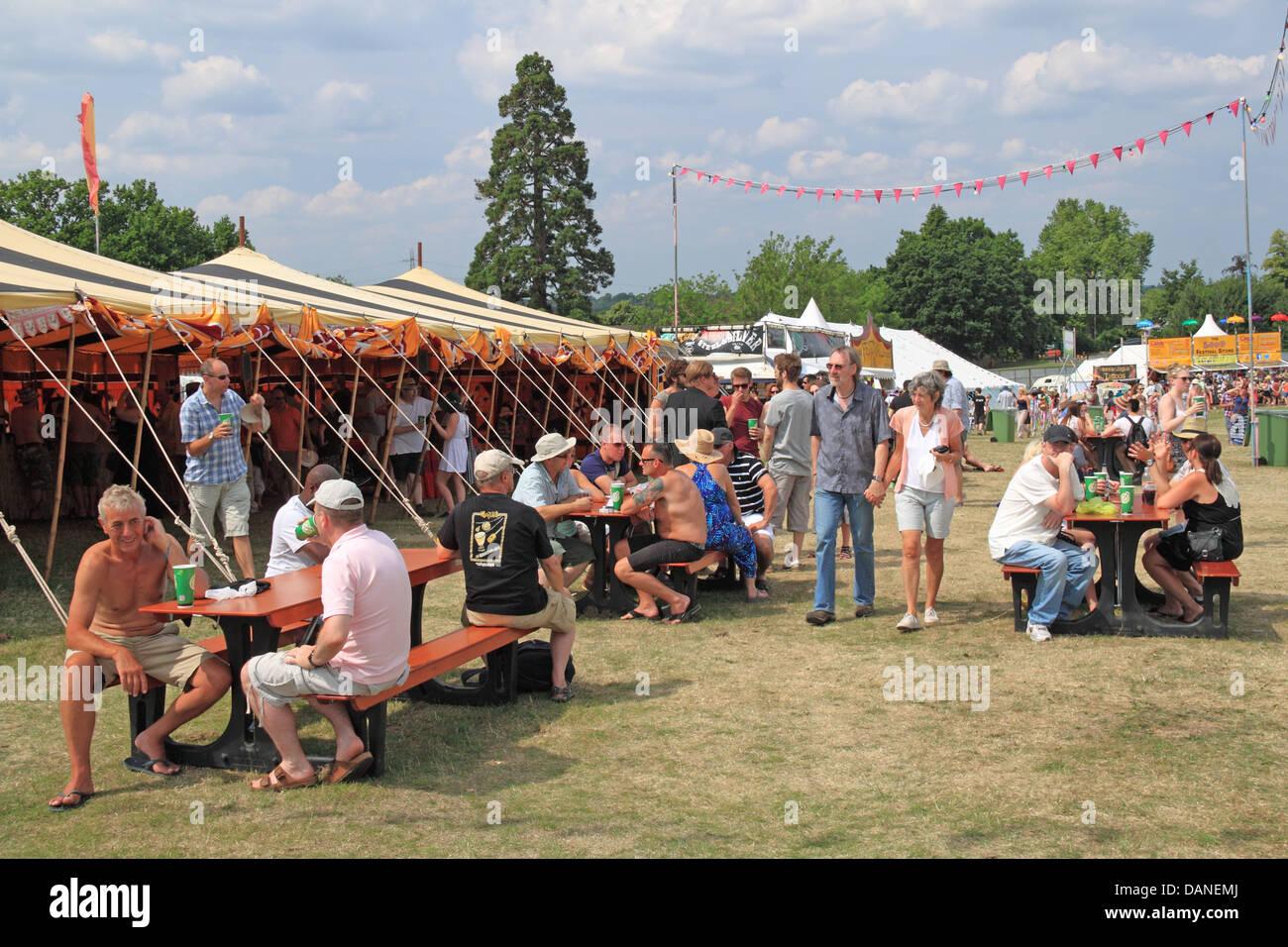 Beer Tent At Summer Magic Live Music Festival Stoke Park