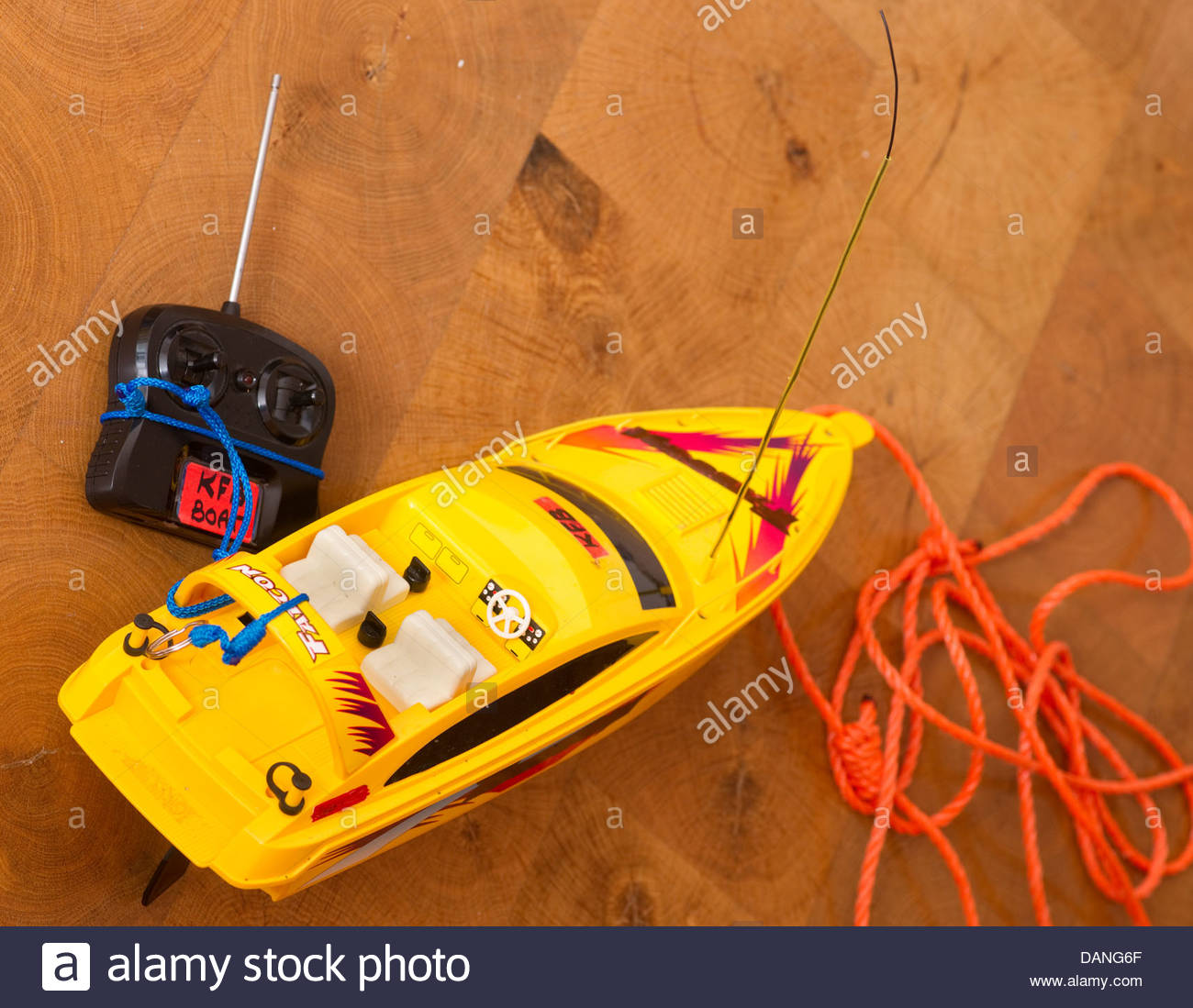boy children kid kids remote control radio controlled toy - Stock Image