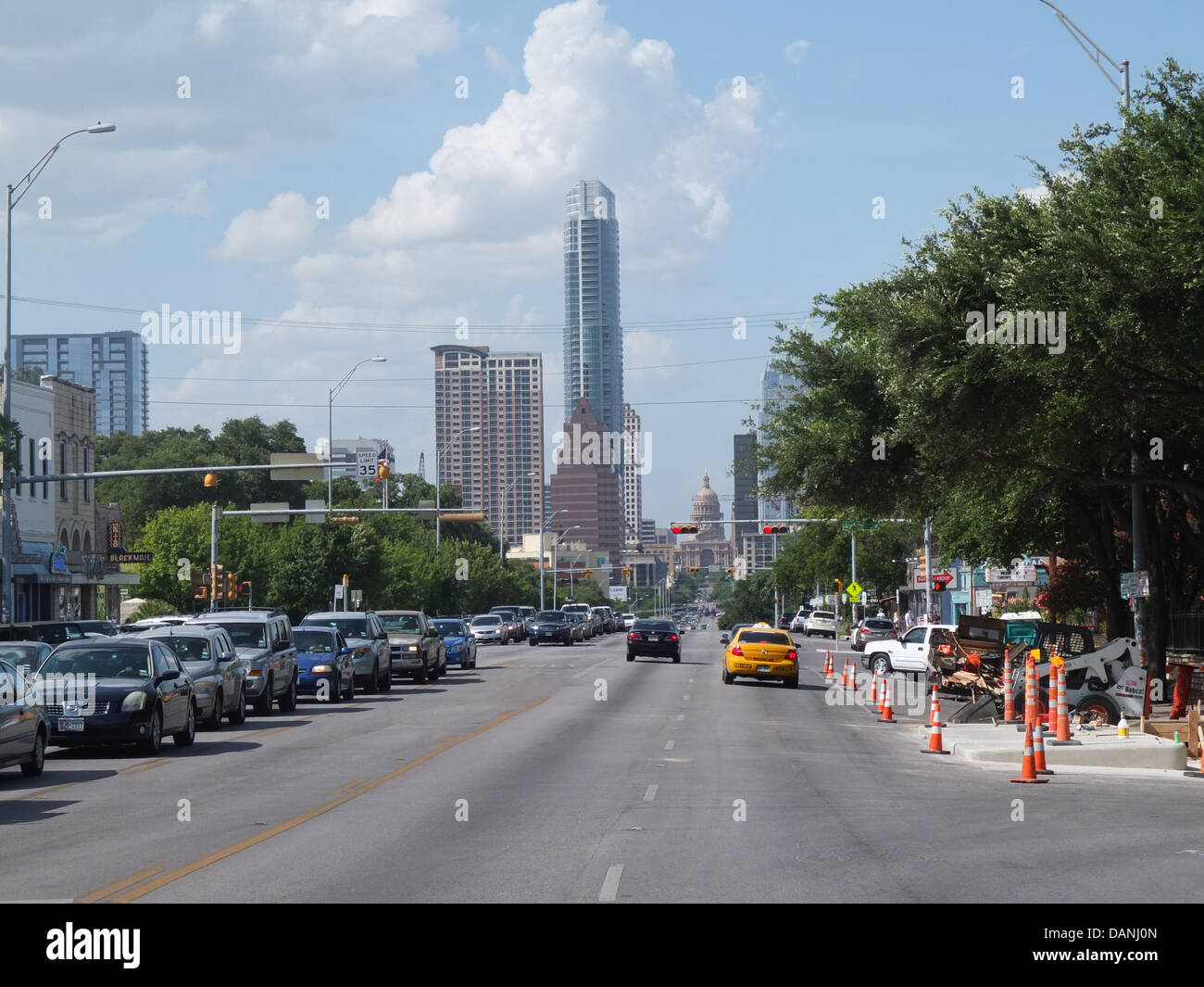 South Congress Avenue  Austin Texas Shops signs - Stock Image