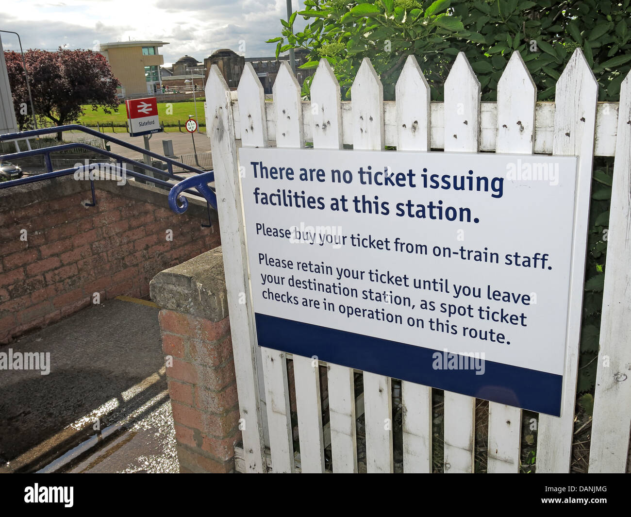 An example of no on station ticketting at Slateford, Edinburgh, Scotland, UK EH14 1BX - Stock Image