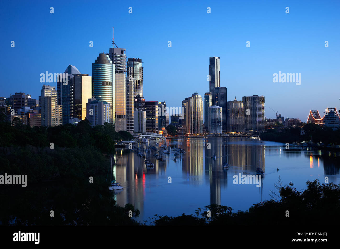 Brisbane central business district Queensland Australia - Stock Image
