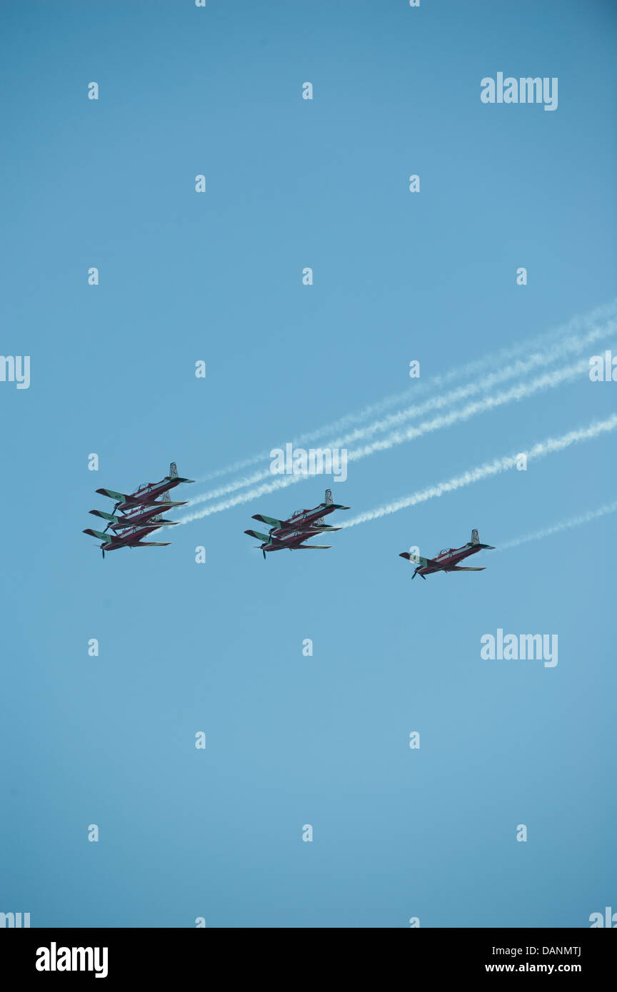 The Roulettes Air Show - Stock Image
