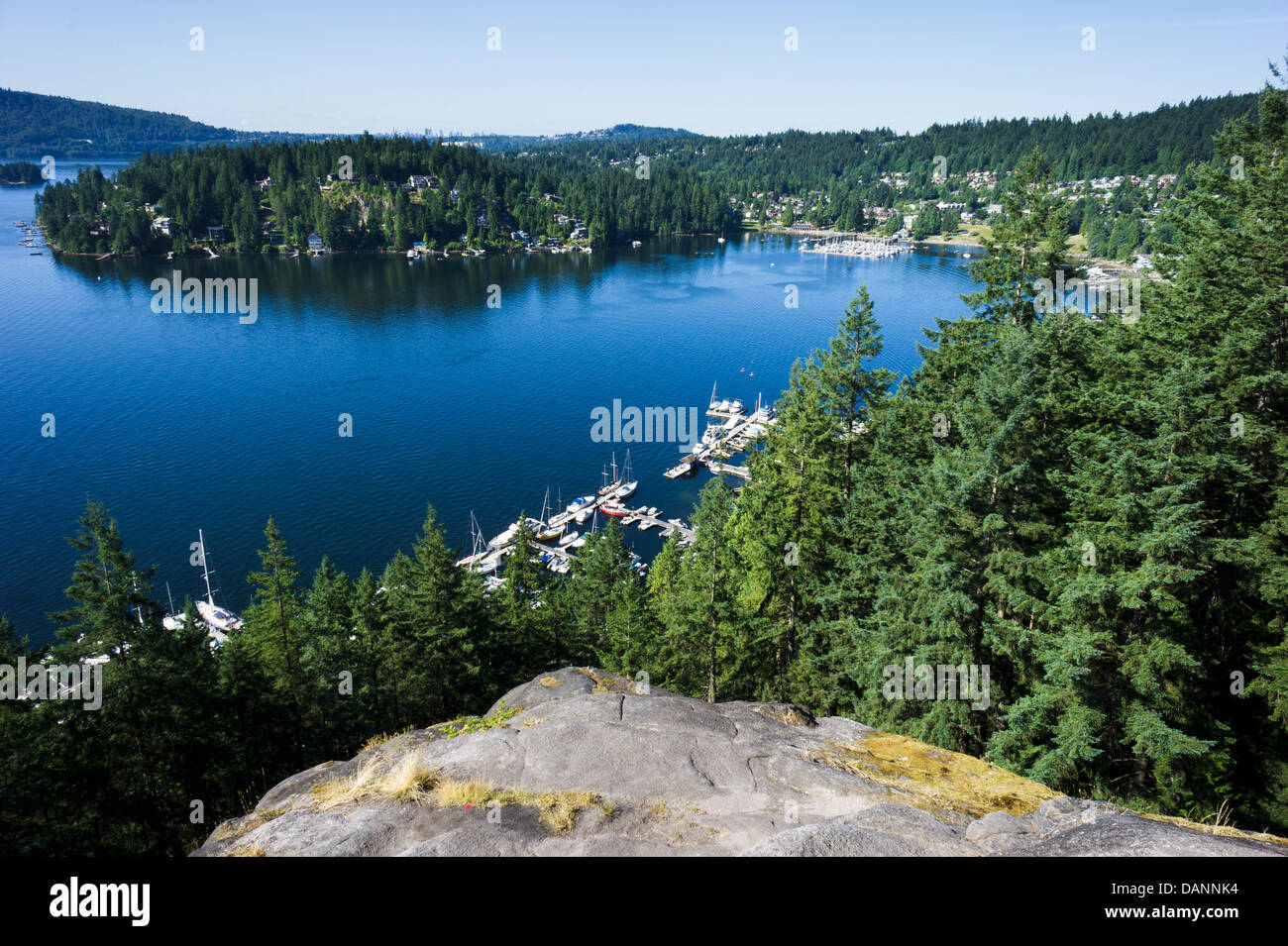 View On Deep Cove From Quarry Rock North Vancouver British Columbia Canada
