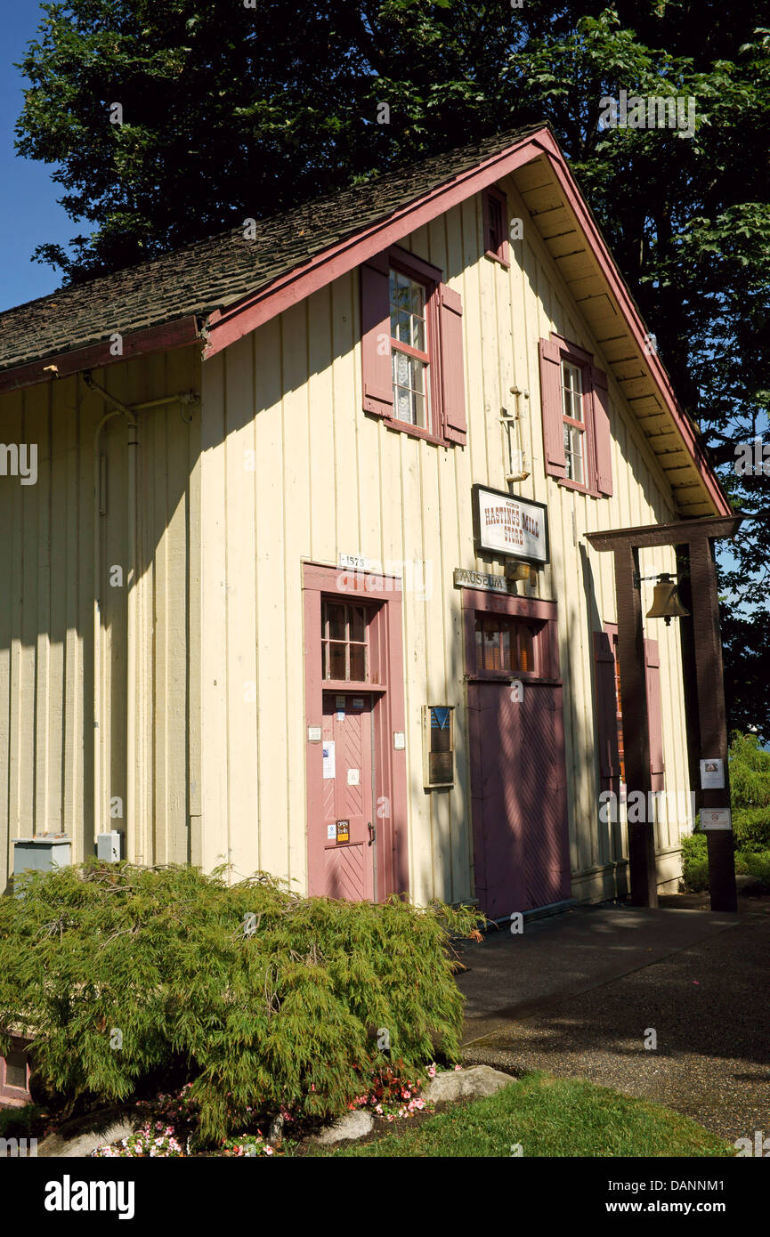 Old Hastings Mill Store museum heritage building in Point Grey, Vancouver, BC, Canada - Stock Image