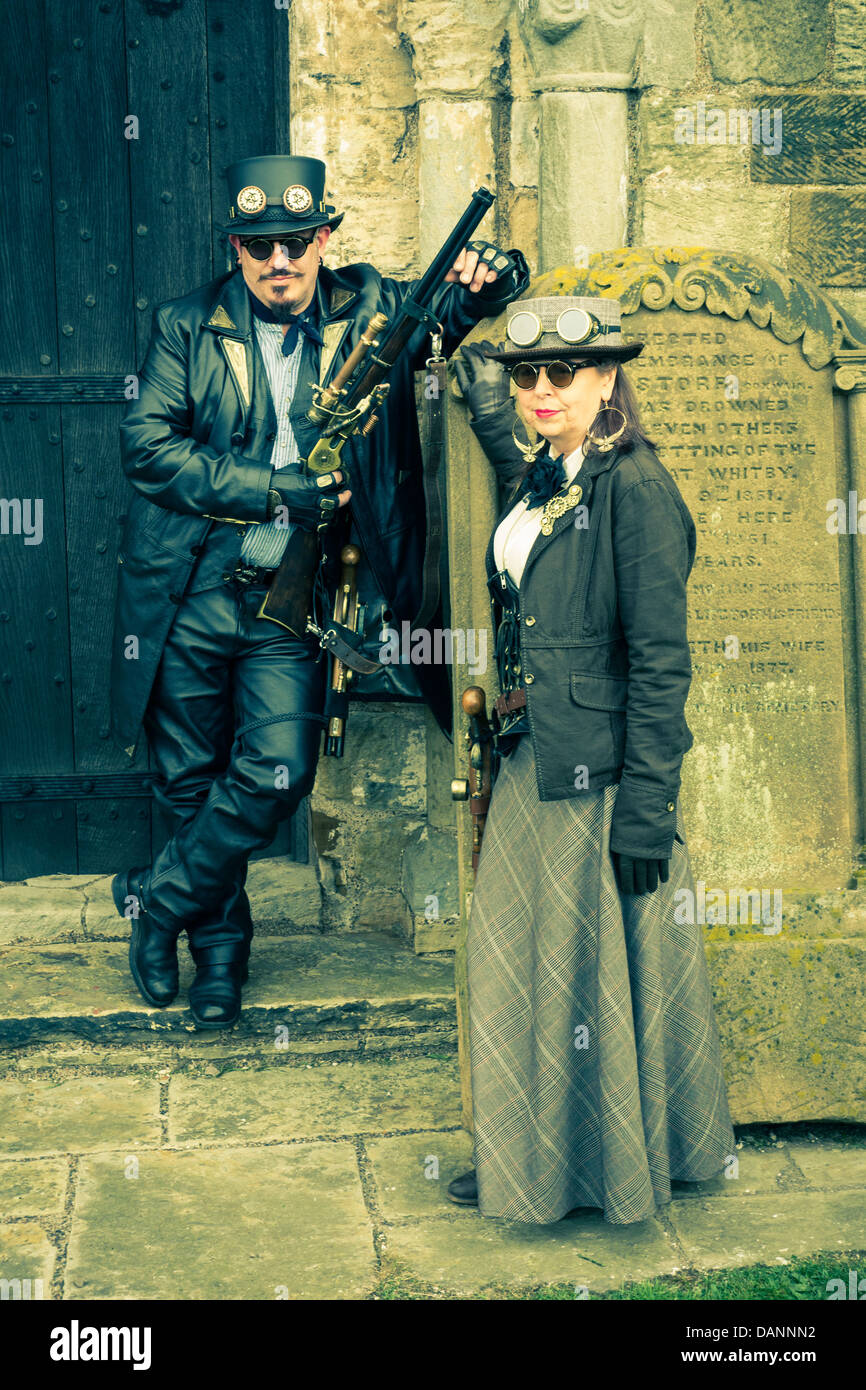 Whitby Gothic Weekend, North Yorkshire. - Stock Image