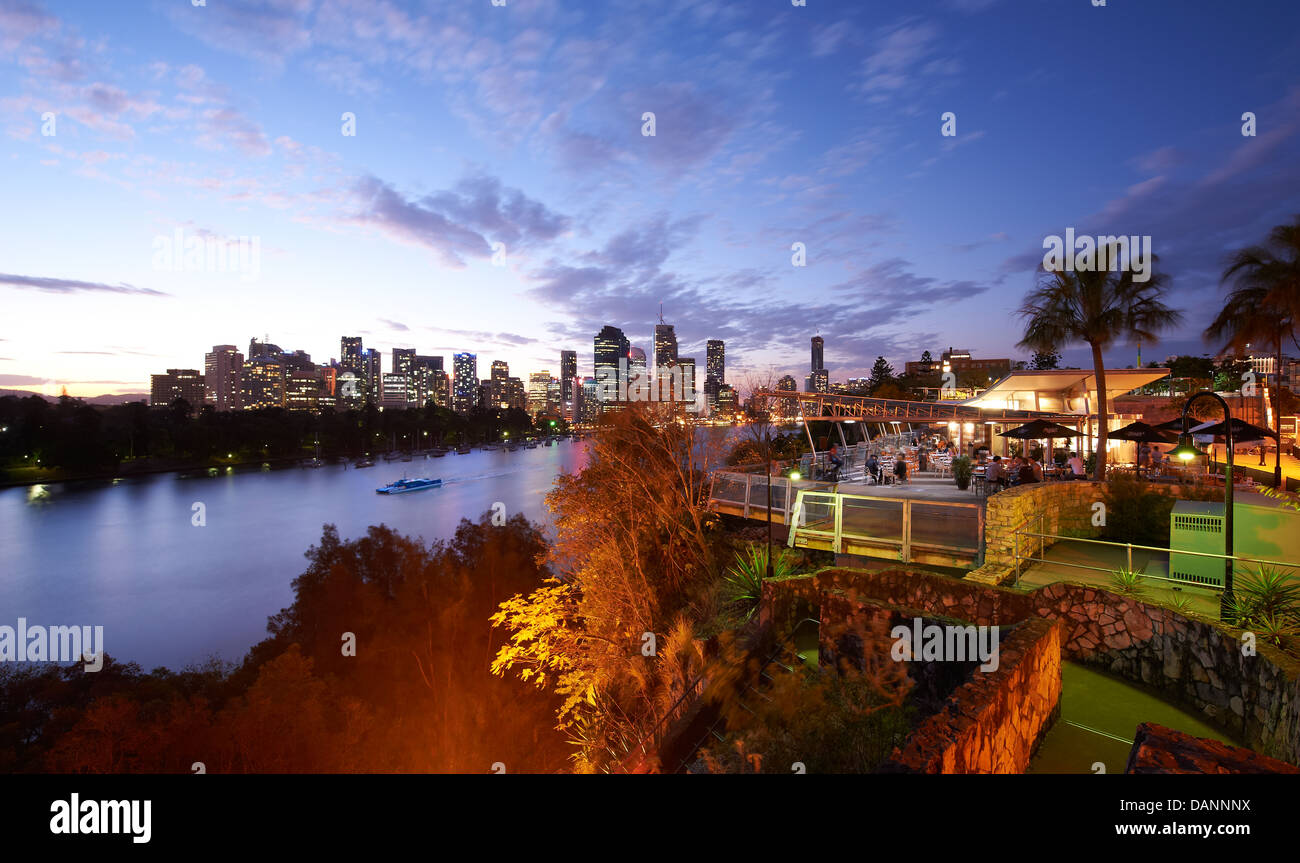 The Cliffs Cafe at Kangaroo Point Brisbane Stock Photo