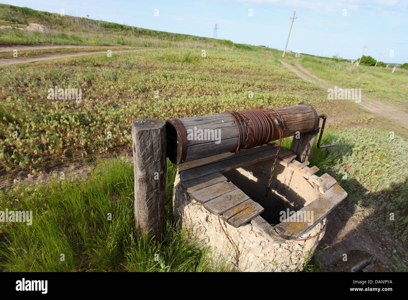 water;old well;village;ecology - Stock Image