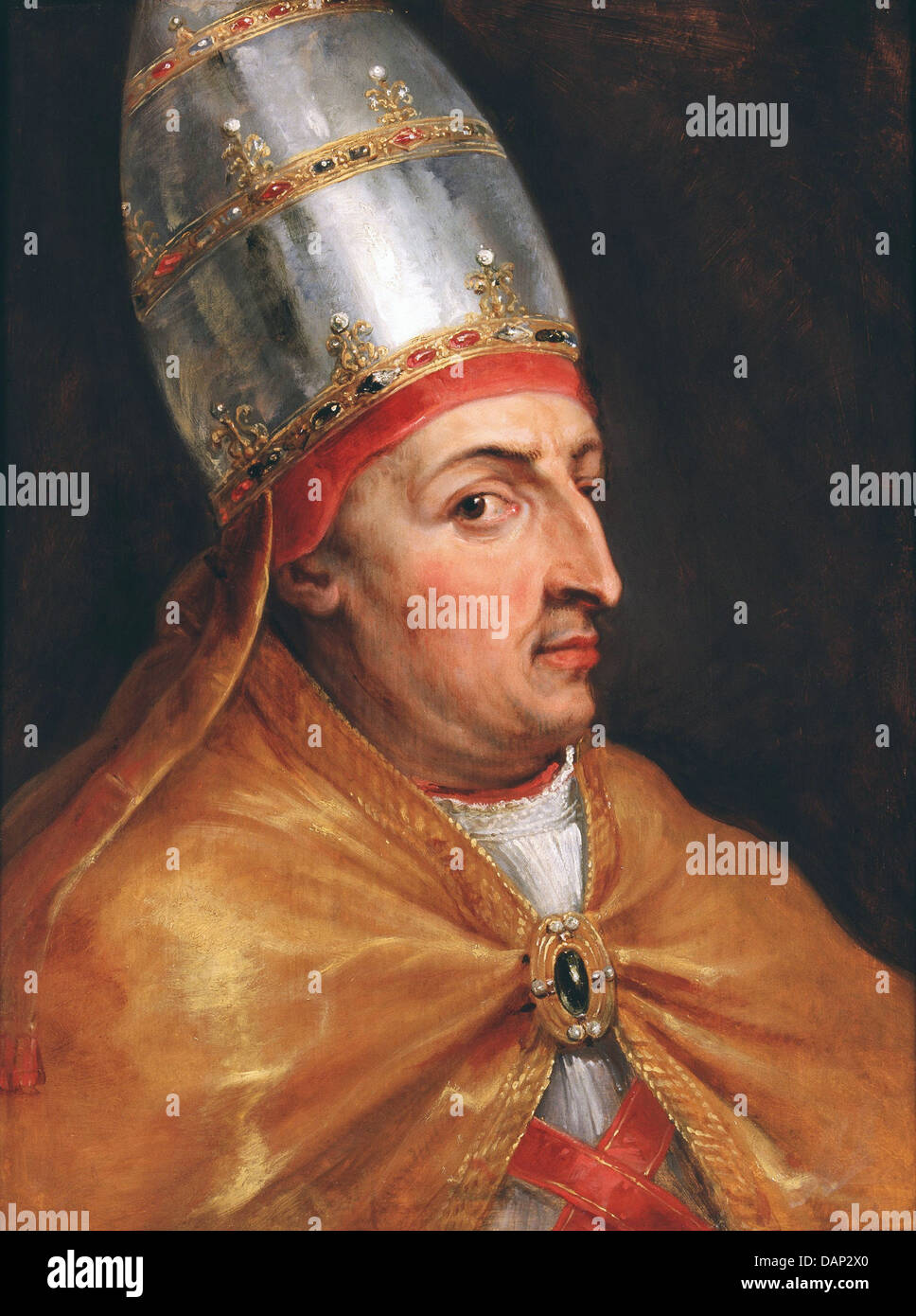 POPE NICHOLAS V (1397-1455) painted by Peter Paul Reubens about 1615 - Stock Image