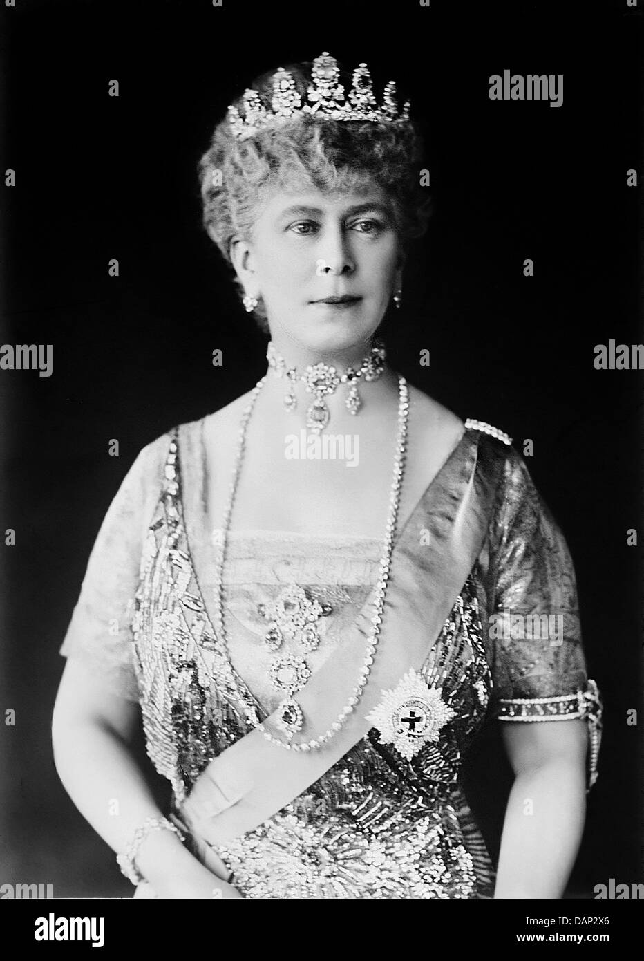 QUEEN MARY OF TECK (1867-1953) wife of King George V - Stock Image