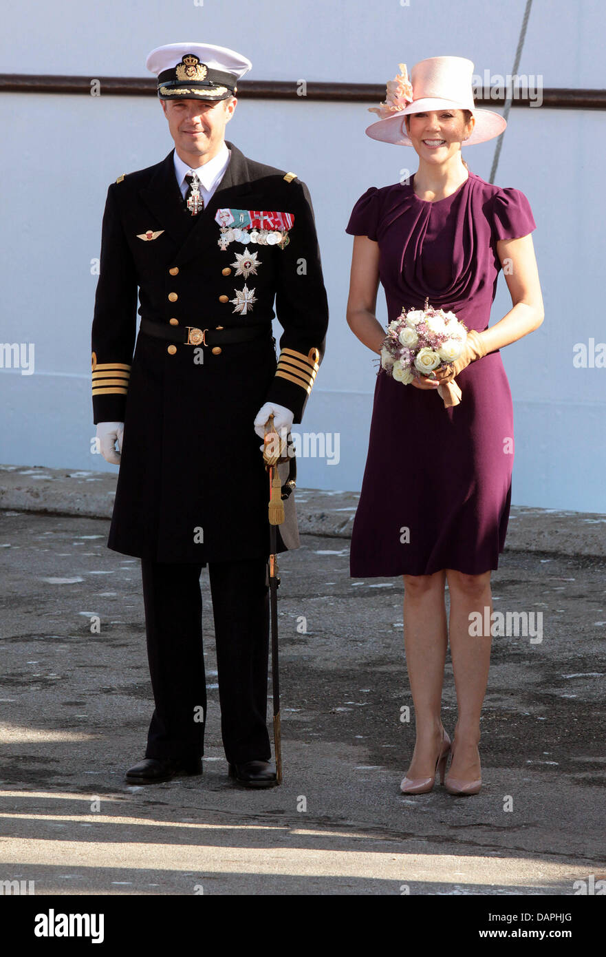 Danish Crown Prince Frederik and Crown Princess Mary attend an official event in Skagen, Denmark, during their summer - Stock Image