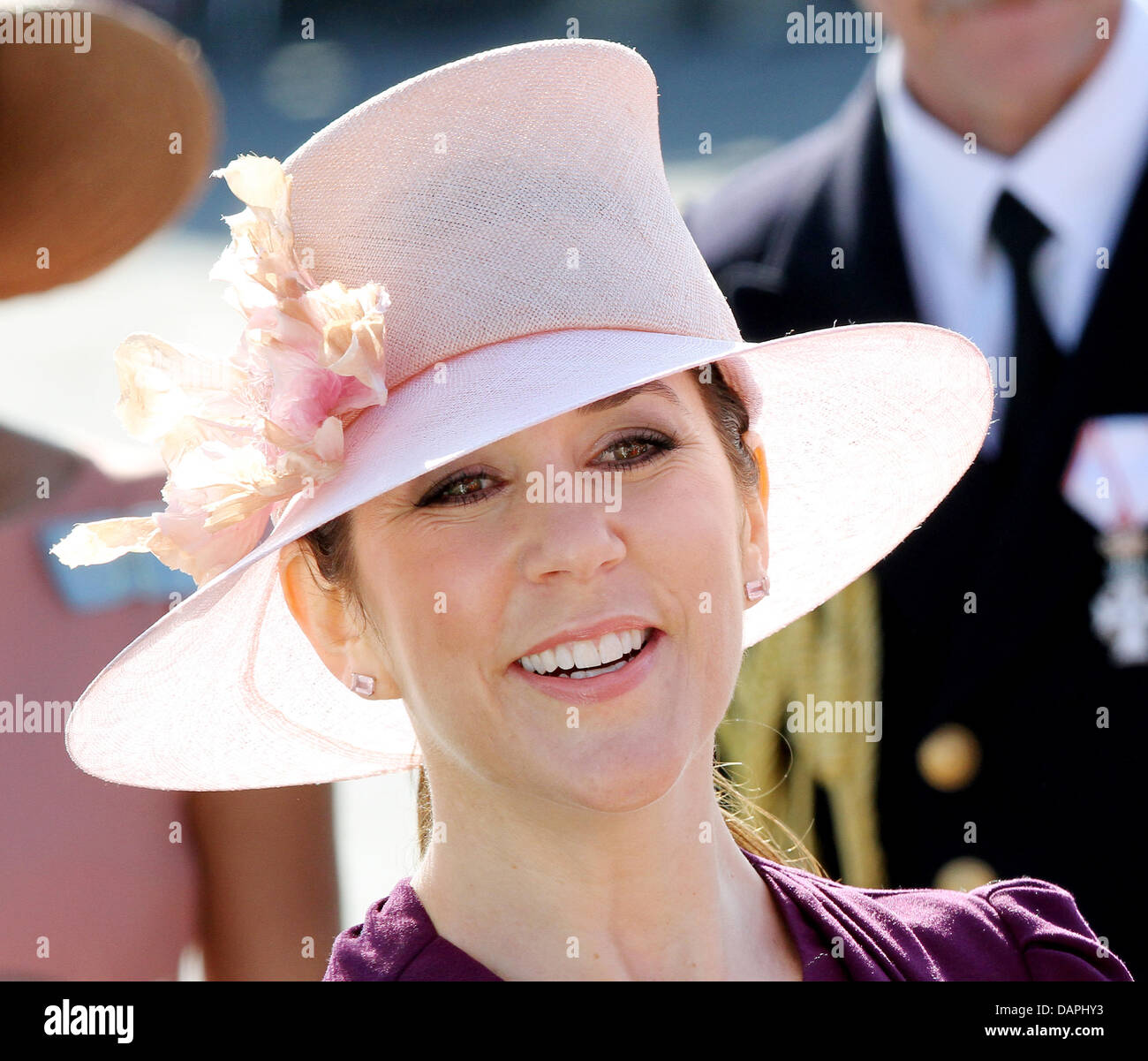 Danish Crown Princess Mary arrives on 22 August 2011 in Skagen, Denmark, during their summer tour with the royal - Stock Image