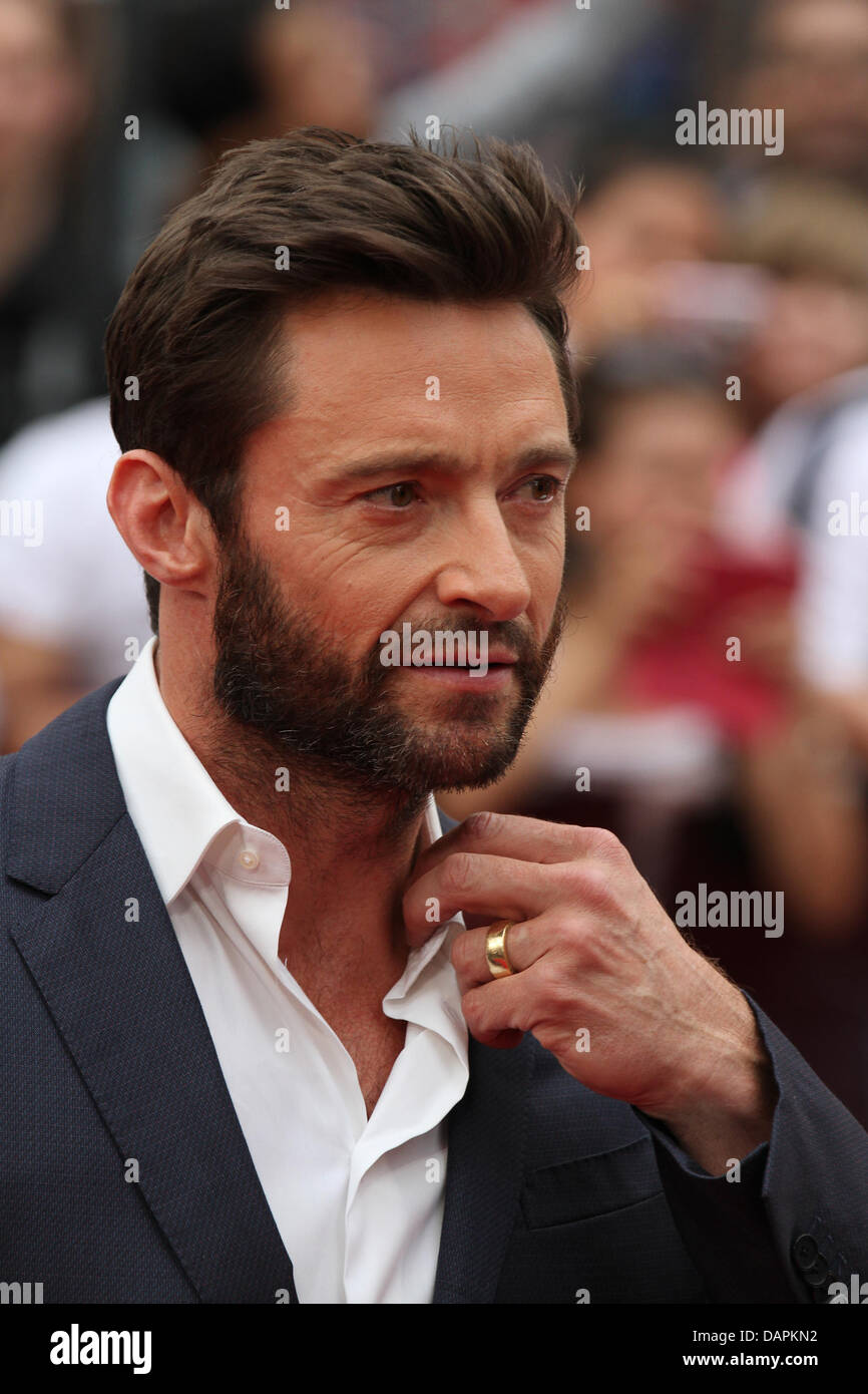 London, UK, 16th July 2013. Hugh Jackman attends the UK film premiere of 'The Wolverine' at The Empire Cinema - Stock Image
