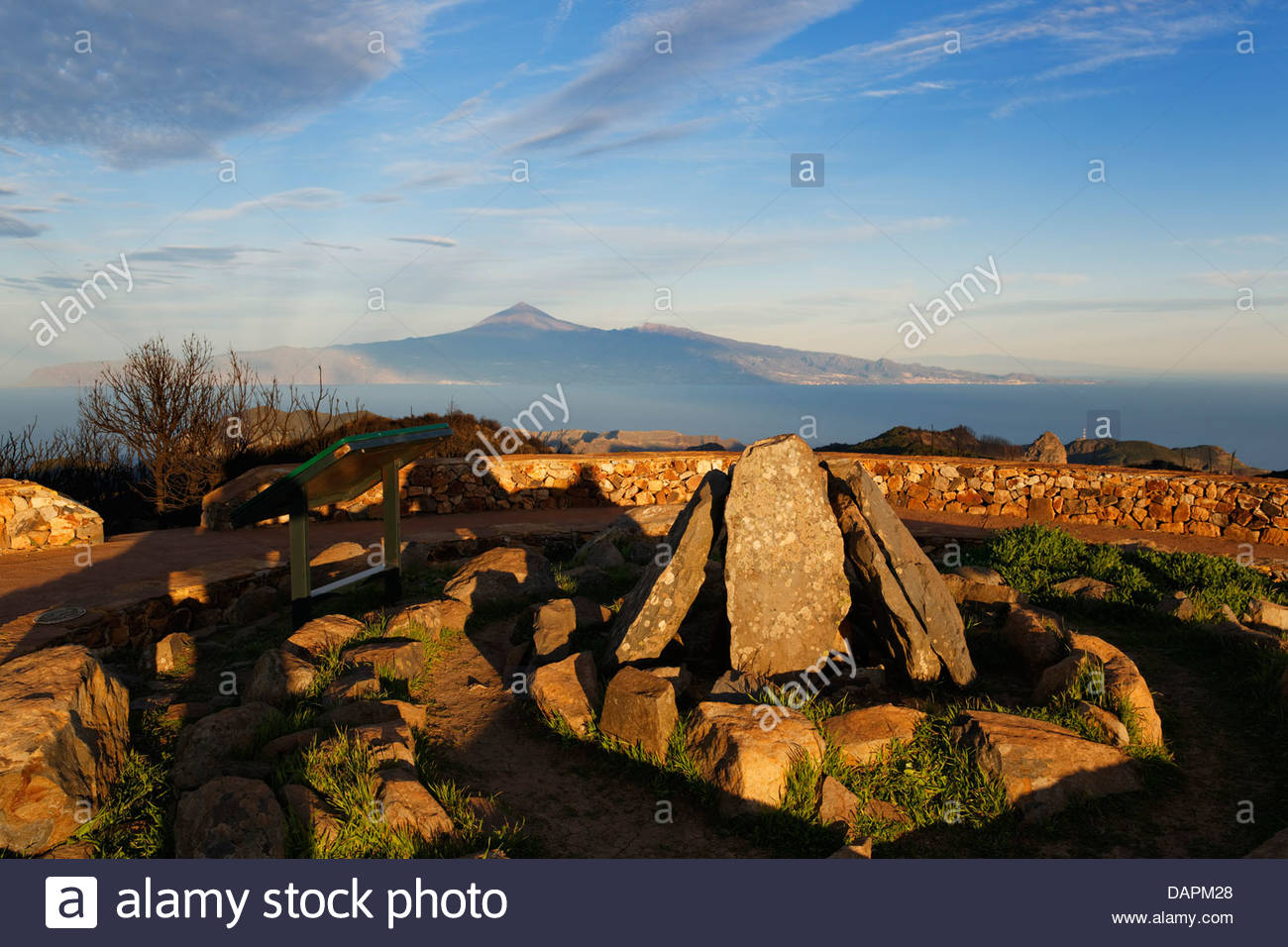 Spain, La Gomera,  Reconstruction of ritual place at peak of Alto de Garajonay - Stock Image