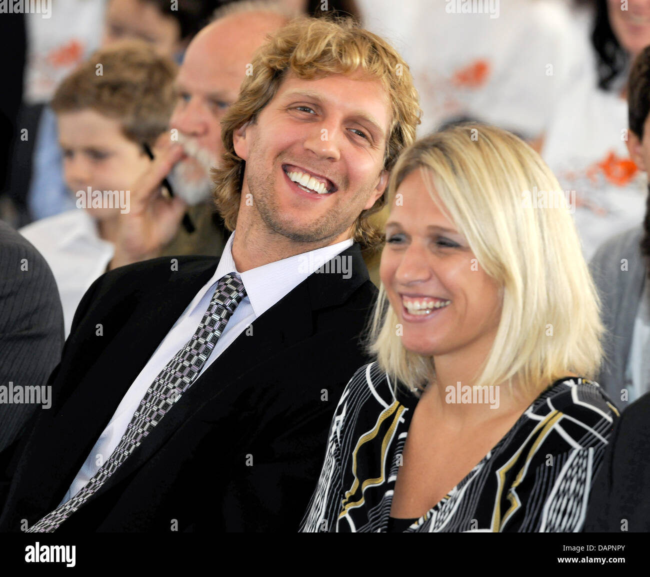 German basketball player Dirk Nowitzki and his sister ...  German basketba...