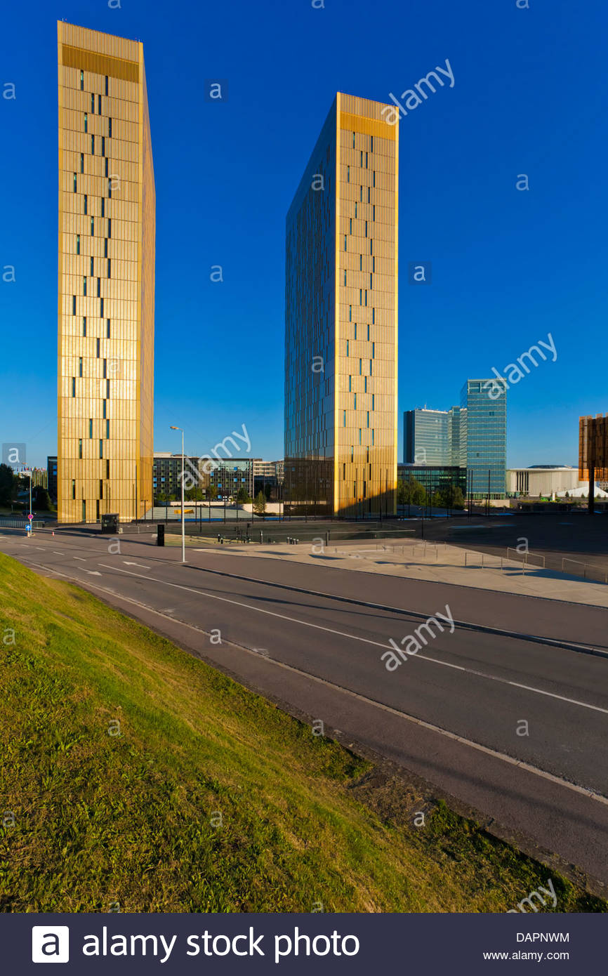 Luxembourg, View of European Court of Justice - Stock Image