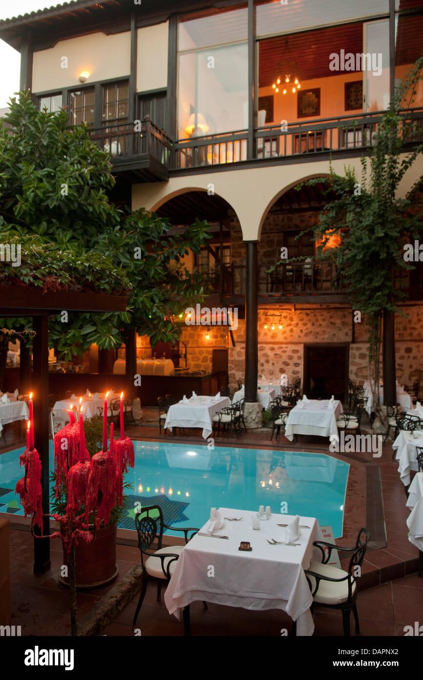 Türkei, Antalya-Stadt, Kaleici, Altstadt, Hotel Alp Pasa in einem historischen Gebäude - Stock Image