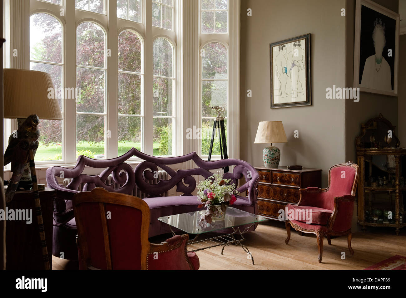Admirable Ornate Sofa Set In Window Of Gloucestershire Country Estate Gmtry Best Dining Table And Chair Ideas Images Gmtryco