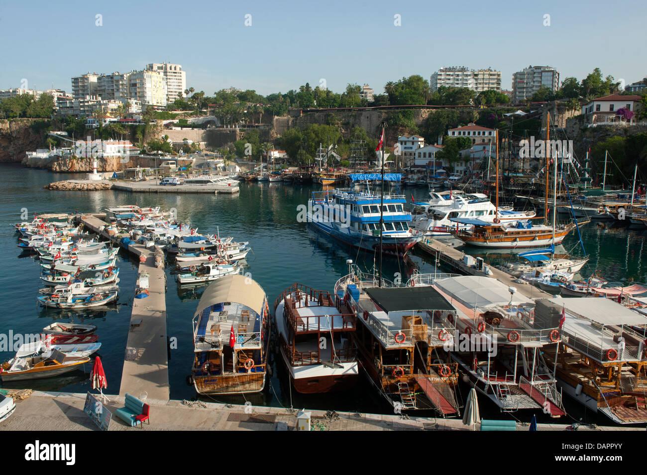 Türkei, Antalya-Stadt, Hafen - Stock Image