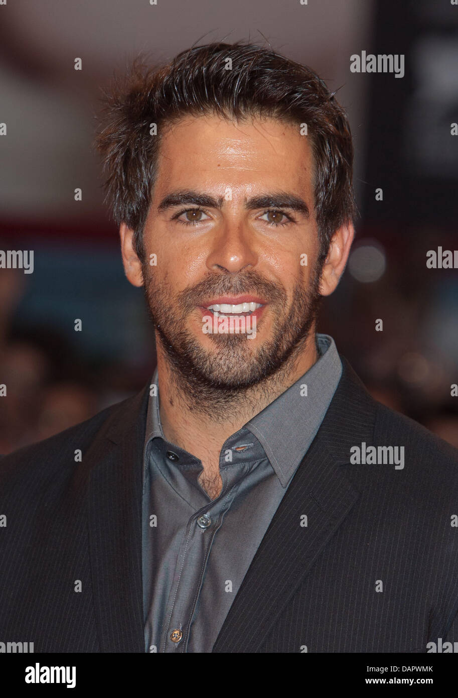 Actor Eli Roth arrives at the premiere of 'Carnage' at the 68th Venice International Film Festival, Mostra - Stock Image