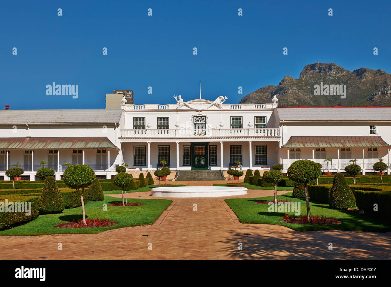 Presidents Residence in Companys Garden, Cape Town, Western Cape, South Africa - Stock Image