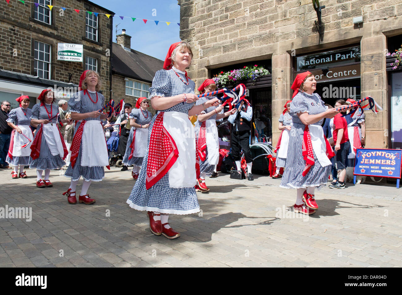 Portrait of traditional folk dancers at the Bakewell Day of Dance 2013, Derbyshire, England - Stock Image
