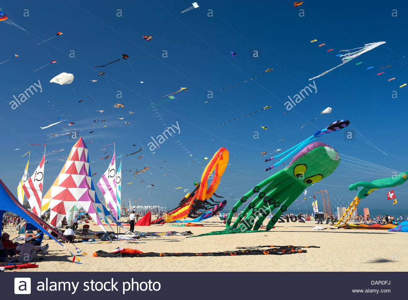 International Kite Festival,Cervia,Emilia Romagna,Italy - Stock Image