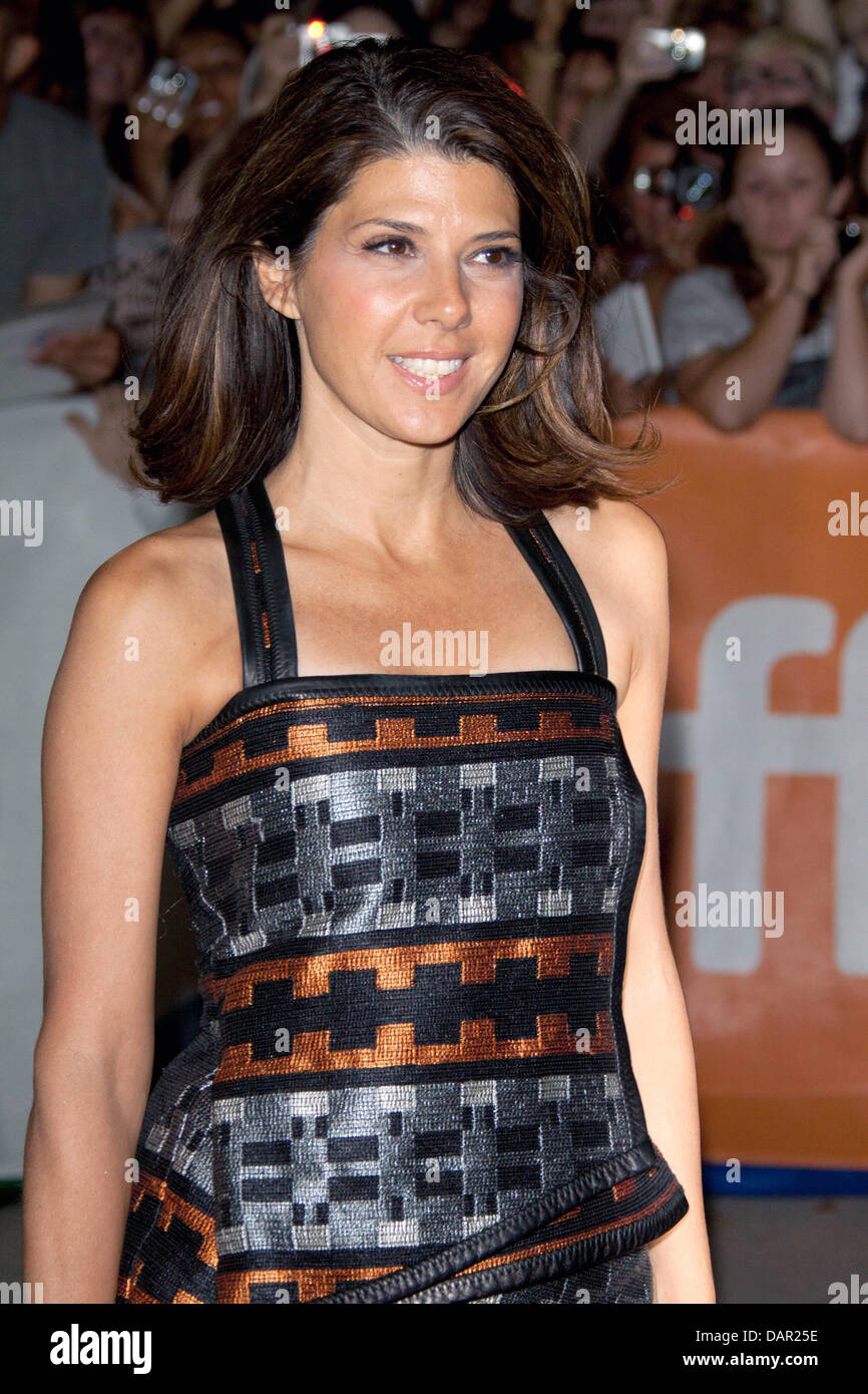 US actress Marisa Tomei arrives at the premiere of 'The Ides Of March' at the Toronto International Film - Stock Image