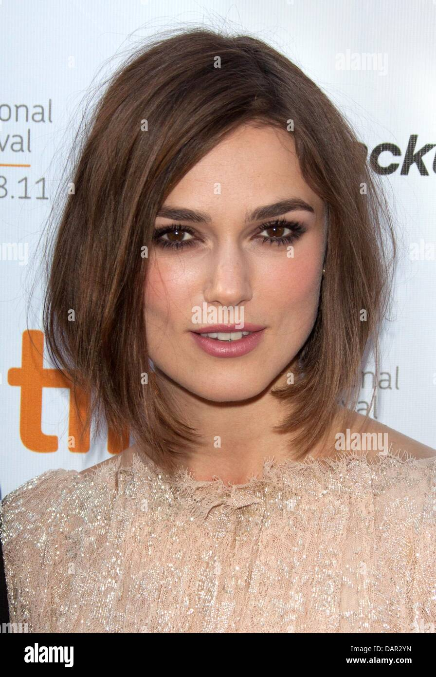 British actress Keira Knightley attends the premiere of 'A Dangerous Method' at the Toronto International - Stock Image