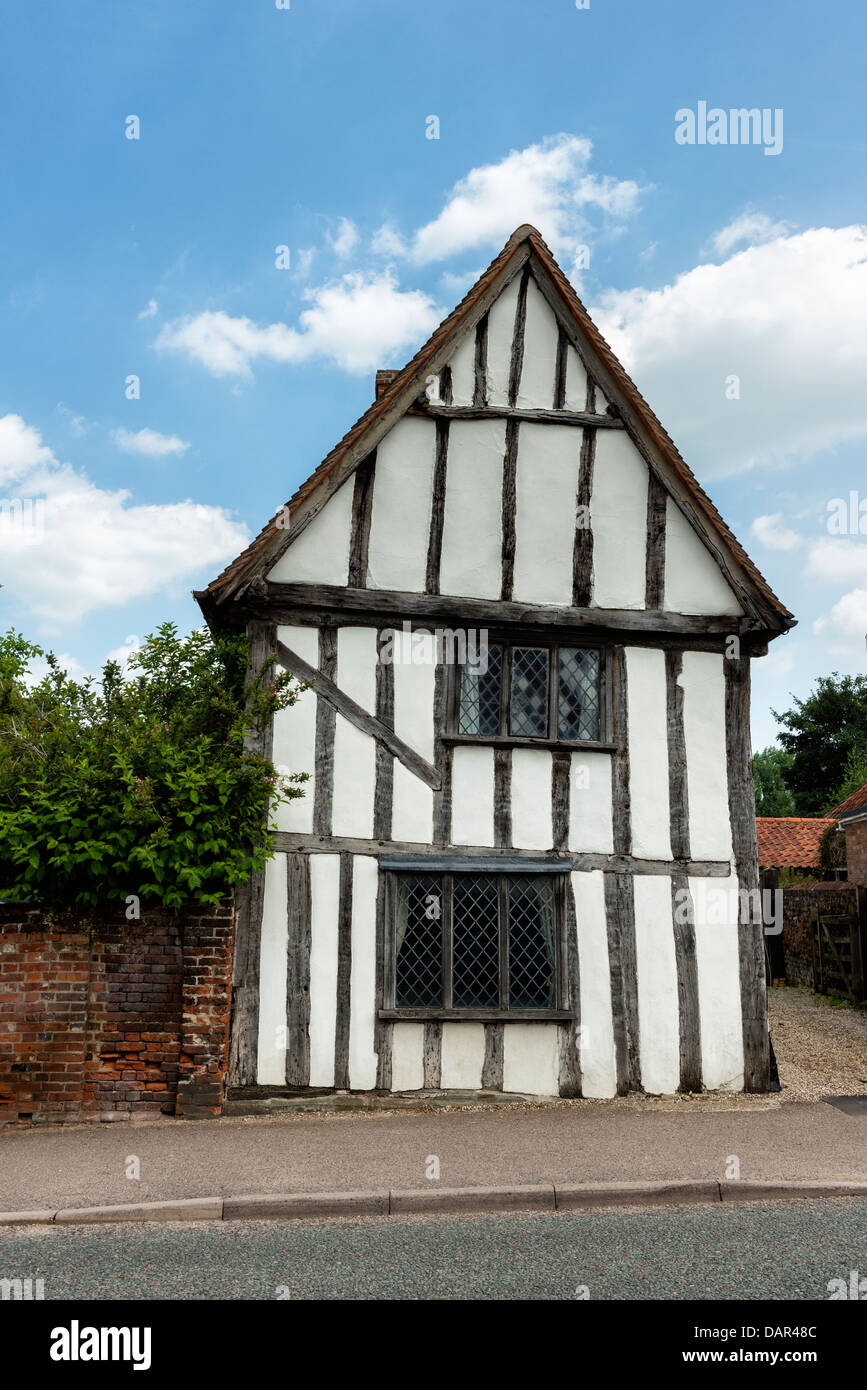 Medieval timber frame house in Lavenham, Suffolk - Stock Image