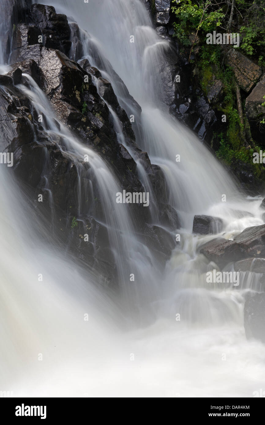 Waterfall in Mont Tremblant National Park Quebec - Stock Image