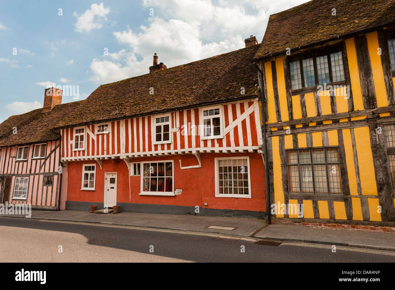 Water Street, Lavenham - Stock Image
