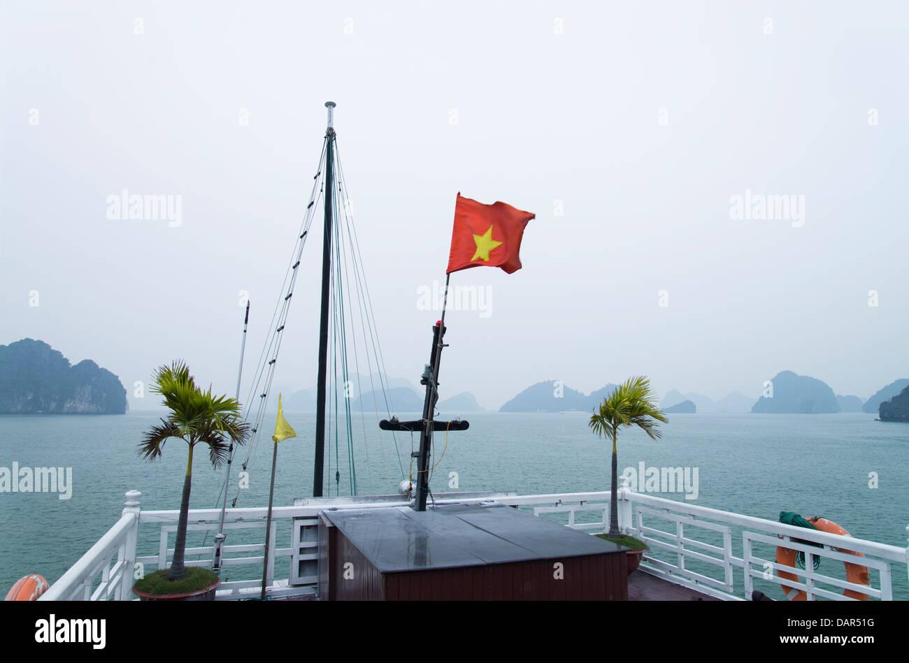 Halong Bay Cruising - Stock Image