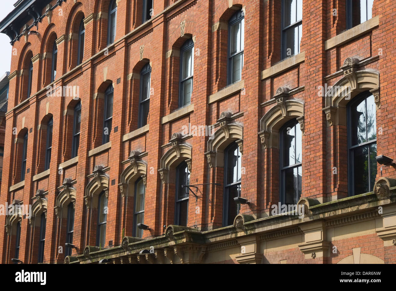 England, Manchester, facade of the now disused Fire Station opposite Piccadilly Rail Station - Stock Image