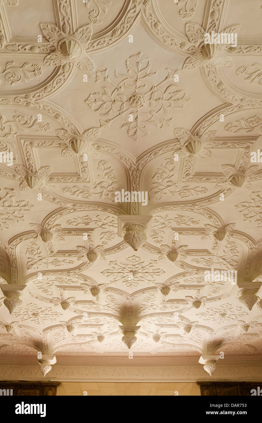 Highly Ornate Jacobean Plaster Ceiling In Ampney Park 17th Century English Country House