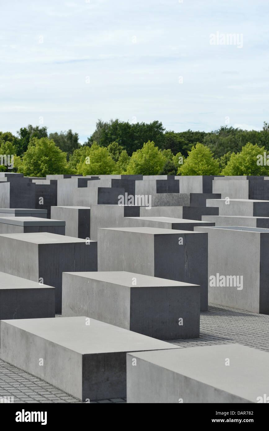 Berlin. Germany. Memorial to the Murdered Jews of Europe / Holocaust Memorial. - Stock Image