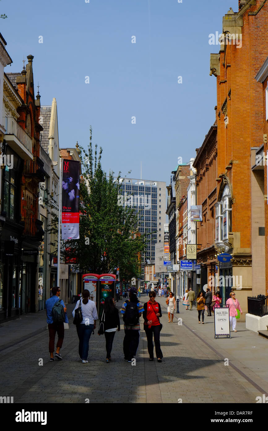 England, Manchester, King Street (boutique shopping area) - Stock Image