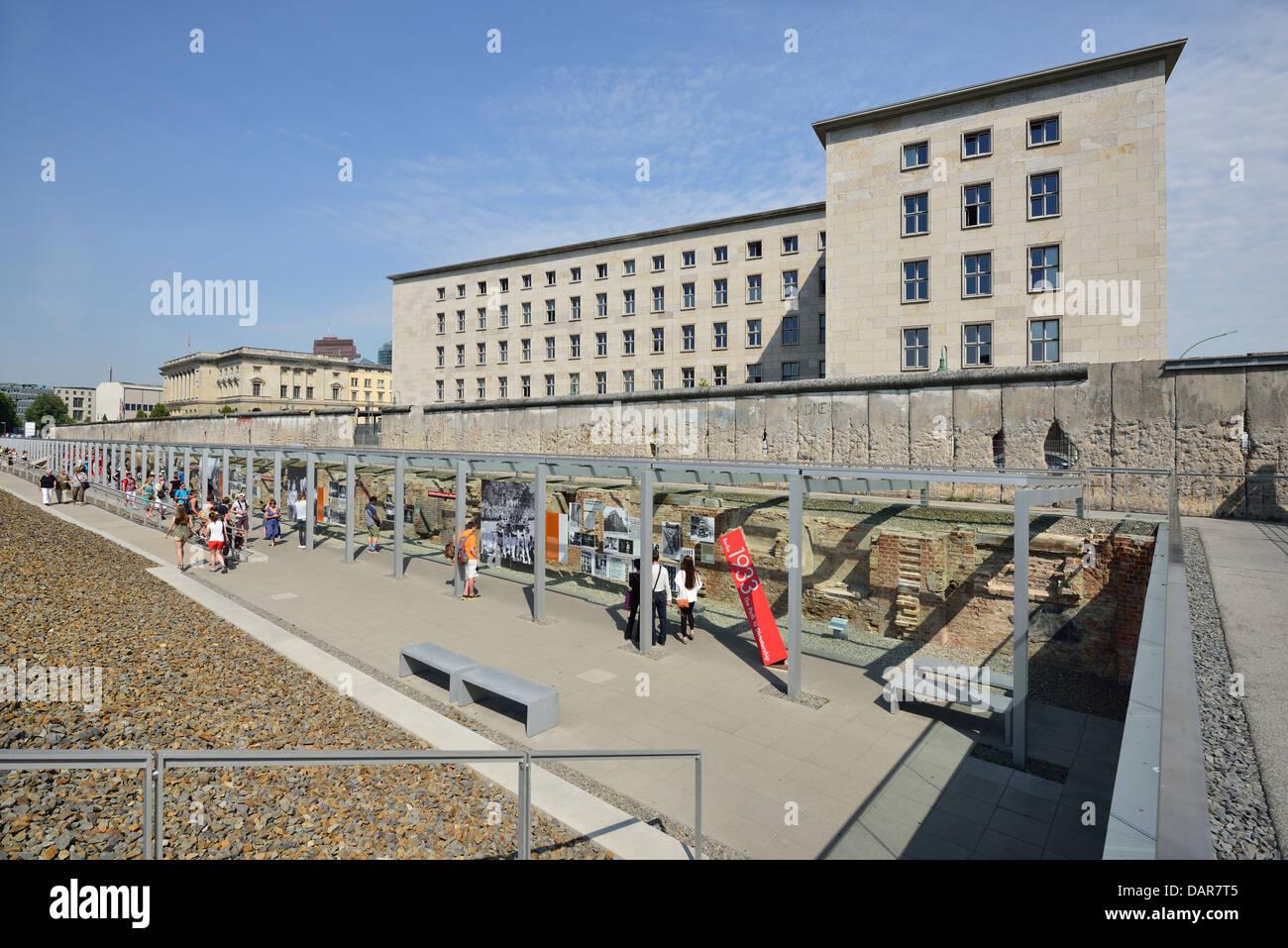Berlin. Germany. Topography of Terror / Topographie des Terrors. - Stock Image