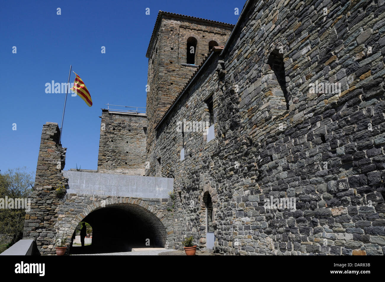 Catalan Romanesque architecture, Sant Pere de Casserres is a Benedictine monastery - Stock Image