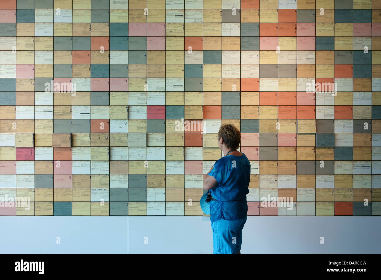 Berlin. Germany. Index cards of former SS members, Topography of Terror. - Stock Image