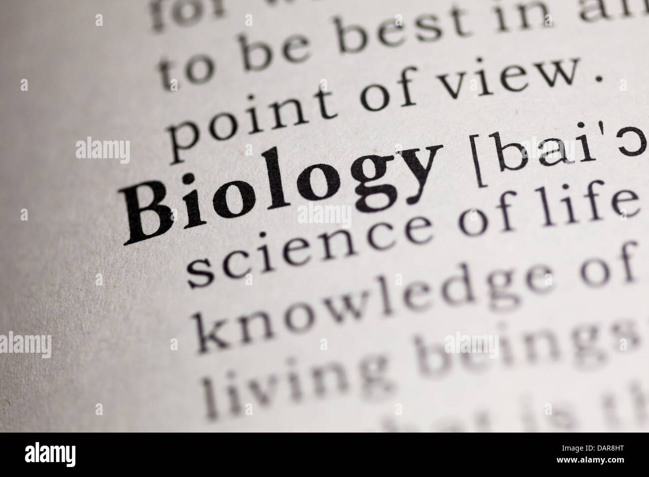 Definition Biology Stock Photos & Definition Biology Stock