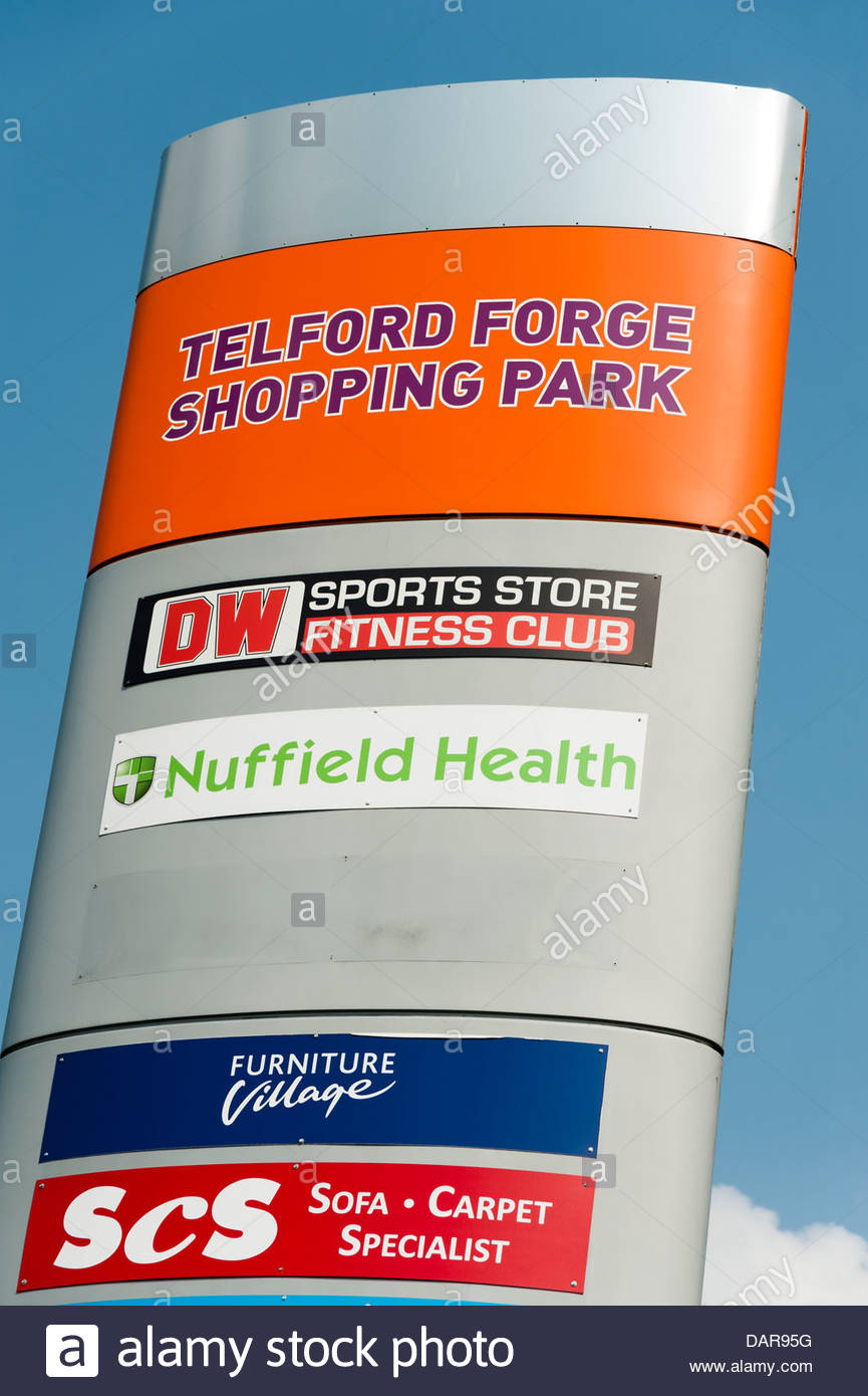 Telford Forge shopping park, UK. - Stock Image
